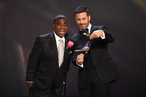 Tracy Morgan and Jimmy Kimmel