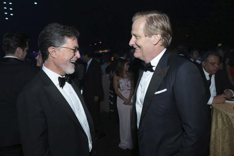 Stephen Colbert and Jeff Daniels