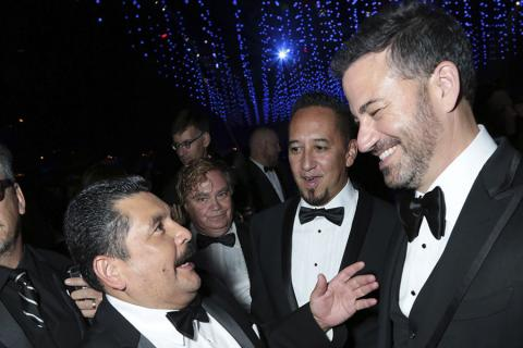 Guillermo Rodriguez and Jimmy Kimmel