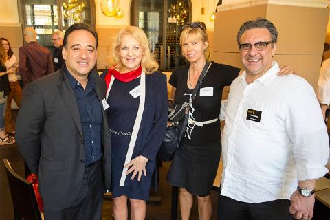 Sergio Gonzalez, Shelly Sheraton, Karen Agnes and Frank Scherma at the Commercials Nominee Reception at the Montage Beverly Hills.