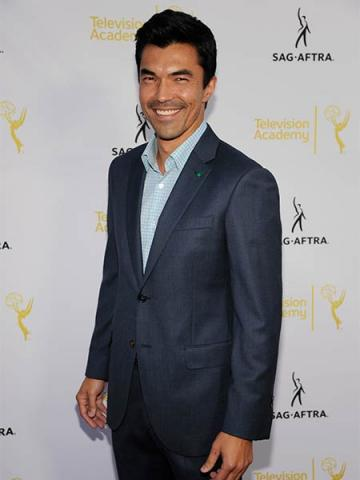 Ian Anthony Dale of Hawaii Five-O  arrives at Dynamic and Diverse: A 66th Emmy Awards Celebration of Diversity at the Television Academy in North Hollywood, California.