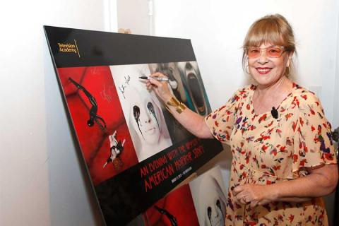 Jennifer Salt at An Evening with the Women of American Horror Story in Hollywood, California.