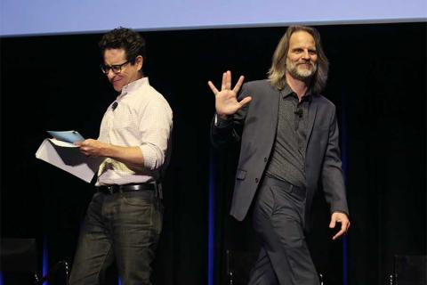 J.J. Abrams and cinematographer Jim Frohna onstage at Transparent: Anatomy of an Episode, March 17, 2016 in Los Angeles.