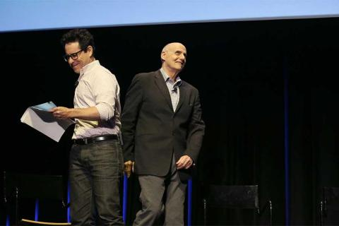 J.J. Abrams and Jeffrey Tambor onstage at Transparent: Anatomy of an Episode, March 17, 2016 in Los Angeles.