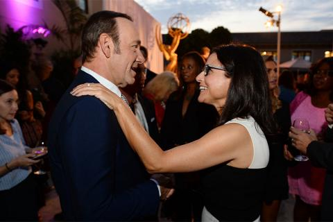 Kevin Spacey andJulia Louis-Dreyfus at the Performers Peer Group nominees reception.