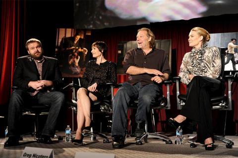 Creative/Executive producer Robert Kirkman, executive producer Gail Ann Hurd, co-executive producer/EFX makeup supervisor Greg Nicotero and actor Laurie Holden at An Evening with The Walking Dead.
