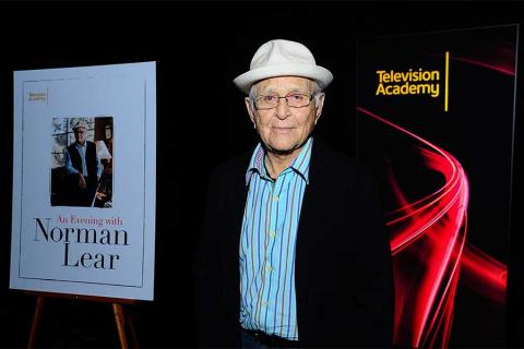 Norman Lear at An Evening with Norman Lear at the Montalban Theater in Hollywood.
