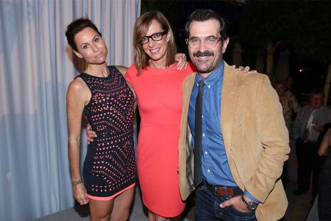 66th Primetime Emmy nominees Minnie Driver, Allison Janney and Ty Burrell at the Performers Peer Group nominee reception.