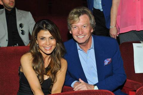 Paula Abdul and Nigel Lythgoe at the Choreographers Nominee Reception in North Hollywood, California.