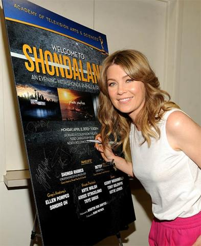 Ellen Pompeo at An Evening with Shonda Rhimes and Friends.