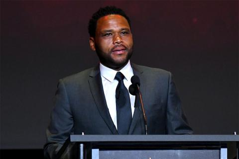 Host Anthony Anderson on stage at the 38th College Television Awards presented by the Television Academy Foundation at the Saban Media Center on Wednesday, May 24, 2017, in the NoHo Arts District in Los Angeles.