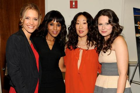 KaDee Strickland, Kerry Washington, Sandra Oh and Katie Lowes at An Evening with Shonda Rhimes and Friends.