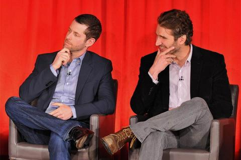 Executive producers D. B. Weiss and David Banioff onstage at An Evening with Game of Thrones.