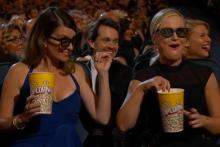 Tina Fey and Amy Poehler during the opening of the 65th Primetime Emmys