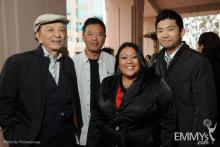James Hong, Henry Chan, Laarni Rosca Dacanay & Phil Yu at Asian Pacific Americans in TV: Then & Now