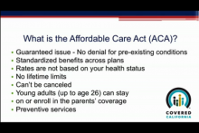 Health Care Reform - Affordable Care Act - Part 1