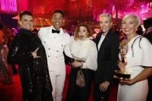 Leslie Highland, Charlie Barnett, Natasha Lyonne, Rebecca Henderson and Jenn Rogien at the 2019 Creative Arts Ball.