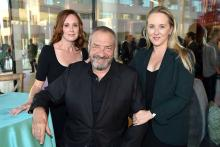 Noelle Wolf, Dick Wolf, and Jennifer Salke at the Television Academy's 70th Anniversary Gala and Opening Celebration for its new Saban Media Center on June 2, 2016