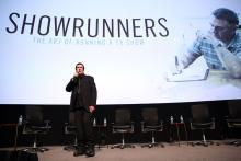 Filmmaker Des Doyle (Showrunners) at Showrunners: The Art of Running a TV Show in North Hollywood, California.
