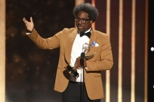 W. Kamau Bell accepts an award at the 2019 Creative Arts Emmys.