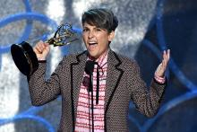 Jill Soloway accepts her award at the 2016 Primetime Emmys.