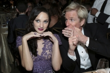 Ruby Modine and Matthew Modine at the 69th Emmys Governors Ball.