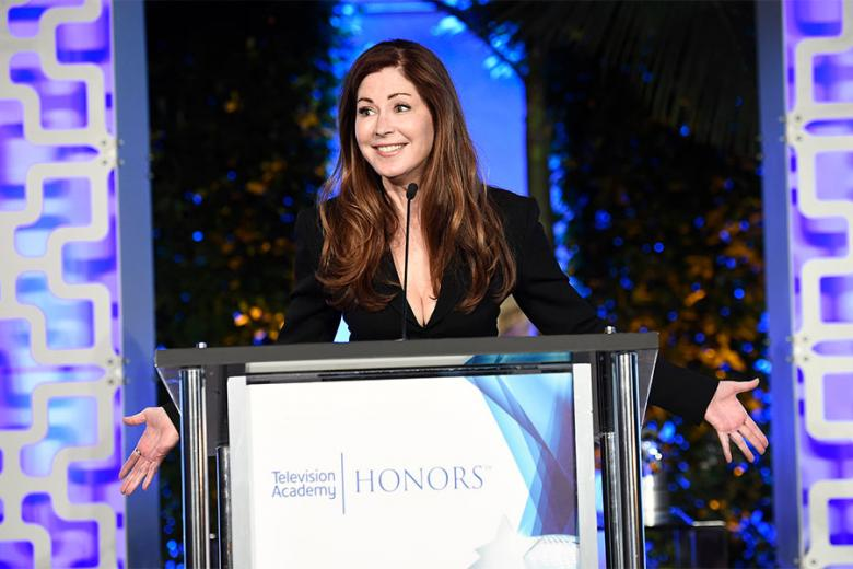 Dana Delany speaks at the 2017 Television Academy Honors at the Montage Hotel on Thursday June 8 2017 in Beverly Hills California.