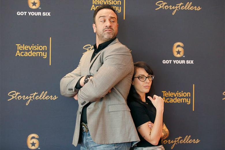 """Jeff Bosley and Kate Holt at the Got Your Six """"Storytellers"""" event at the Television Academy's Wolf Theatre at the Saban Media Center on Tuesday November 1 2016 in North Hollywood California."""