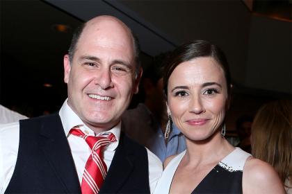 Matthew Weiner and Linda Cardellini