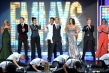 Allison Holker, Derek Hough, Sonya Tayeh, Napoleon Dumo, Neil Patrick Harris, Tabitha Dumo, Travis Wall, and Mandy Moore on stage at the 65th Emmys