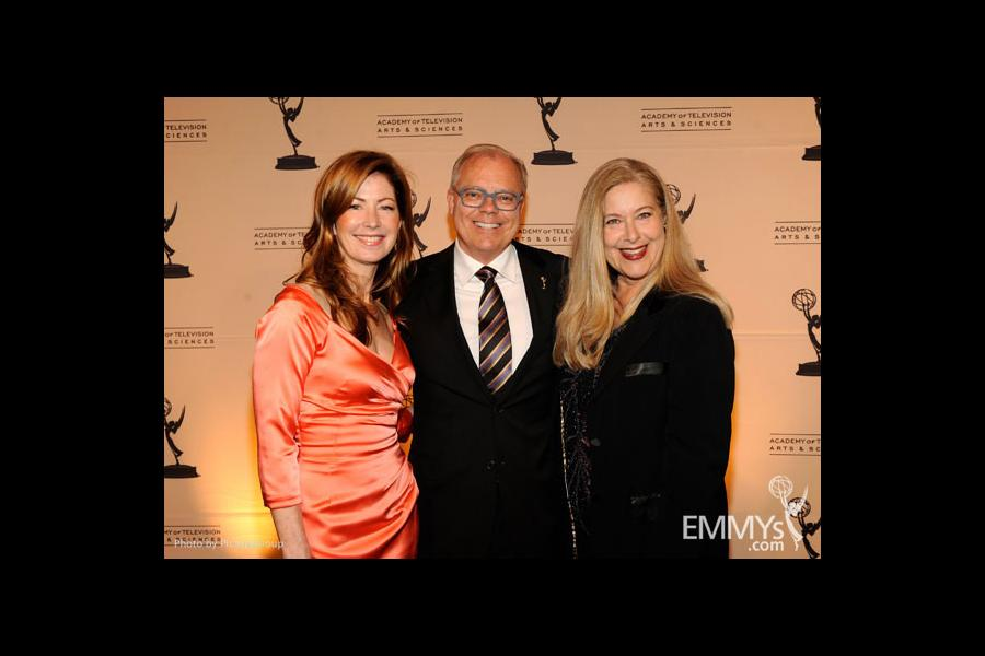 Dana Delany, John Shaffner and Lynn Roth at the Fourth Annual Television Academy Honors