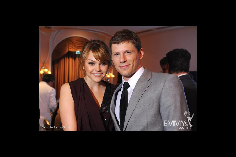 Aimee Teegarden & Matt Lauria at the Fourth Annual Television Academy Honors