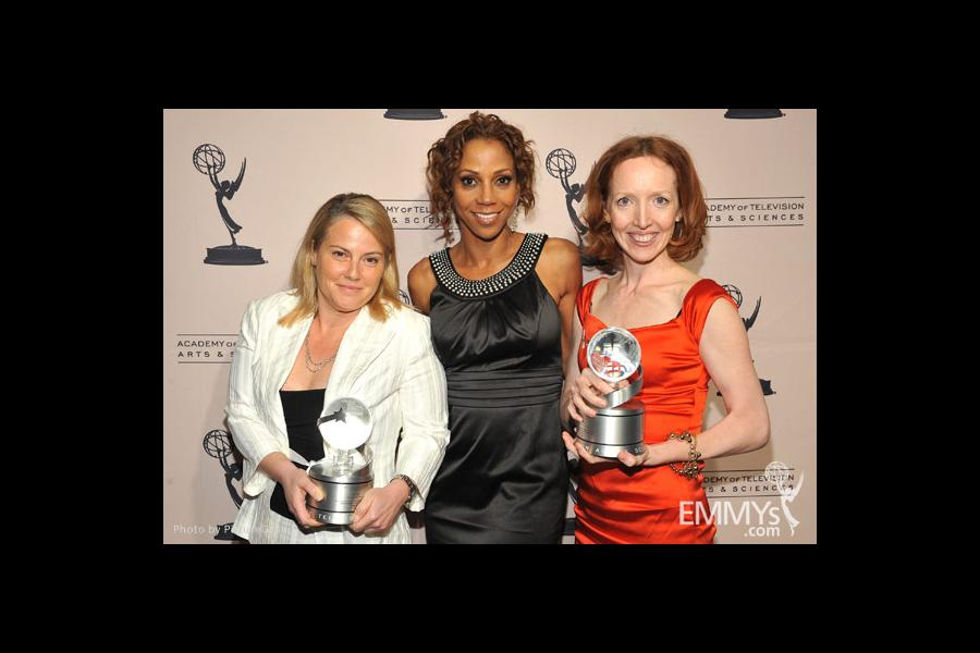 Holly Robinson Peete, Jenny Bicks and Darlene Hunt at the Fourth Annual Television Academy Honors