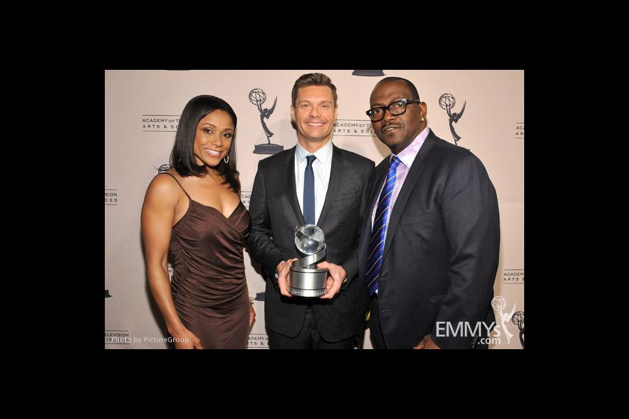 Dominique Dawes, Ryan Seacrest and Randy Jackson at the Fourth Annual Television Academy Honors