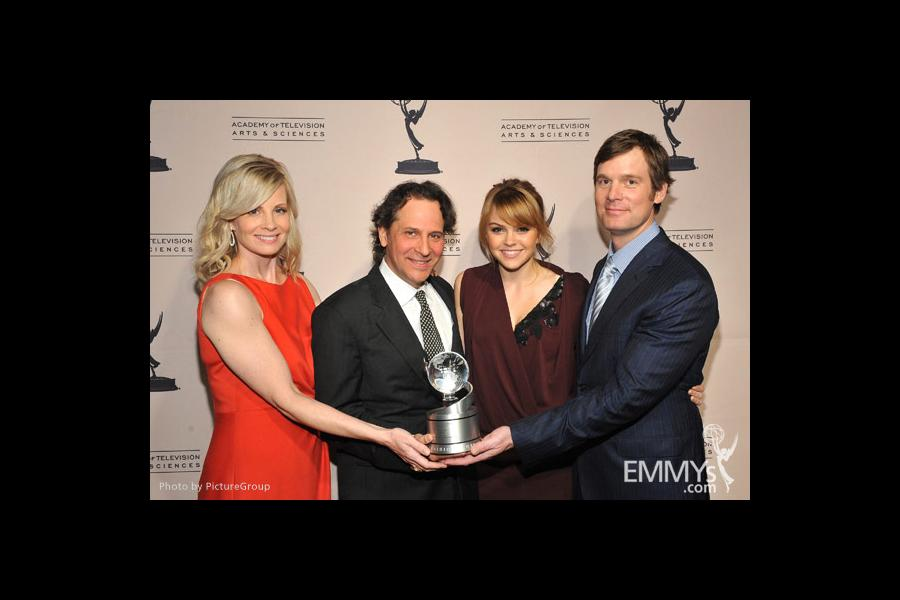 Monica Potter, Jason Katims, Aimee Teegarden and Peter Krause at the Fourth Annual Television Academy Honors