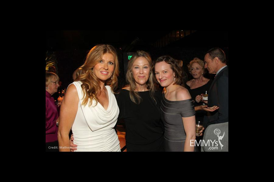 Connie Britton, Catherine O'Hara & Elisabeth Moss attend the Performers Nominee Reception