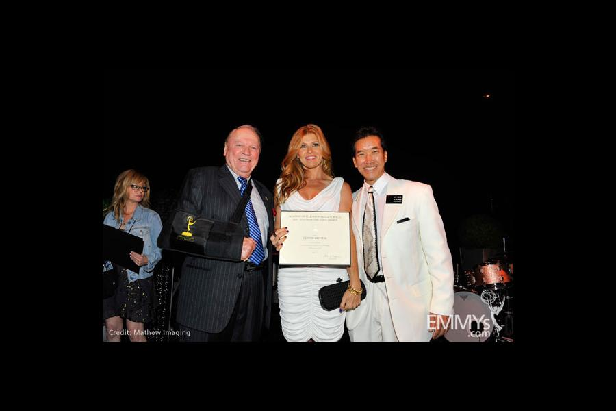 Conrad Bachmann, Connie Britton and Peter Kwong at the Performers Nominee Reception
