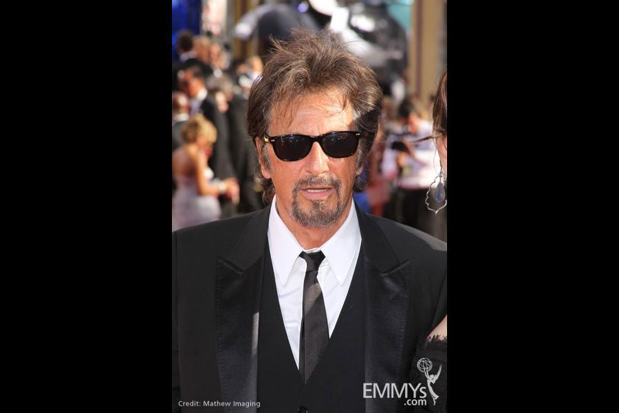 Al Pacino arrives at the 62nd Primetime Emmy Awards