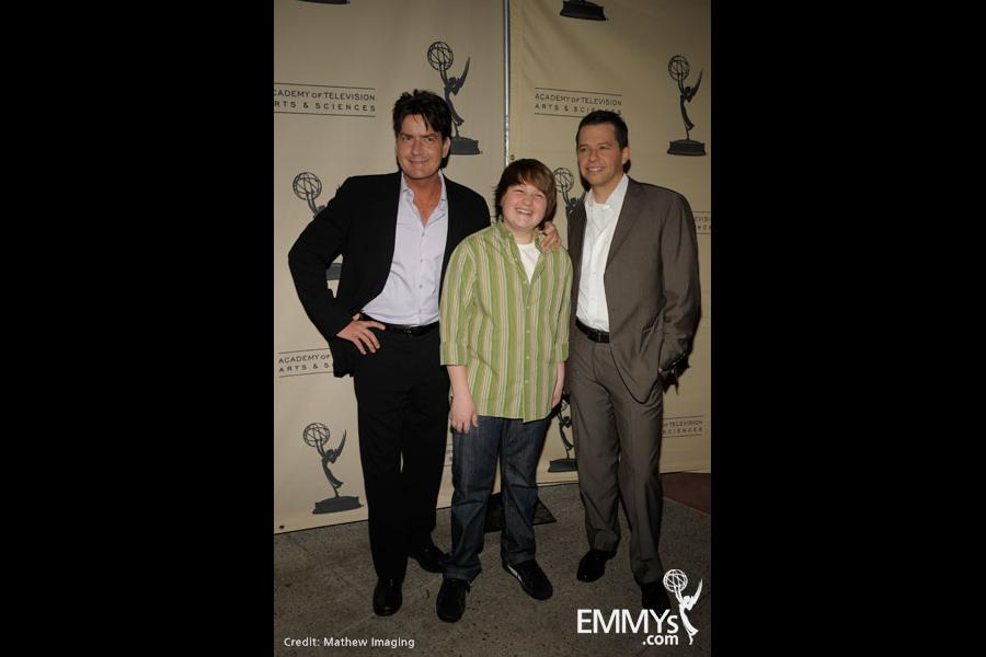 Charlie Sheen, Angus T. Jones & Jon Cryer at An Evening With Two And A Half Men