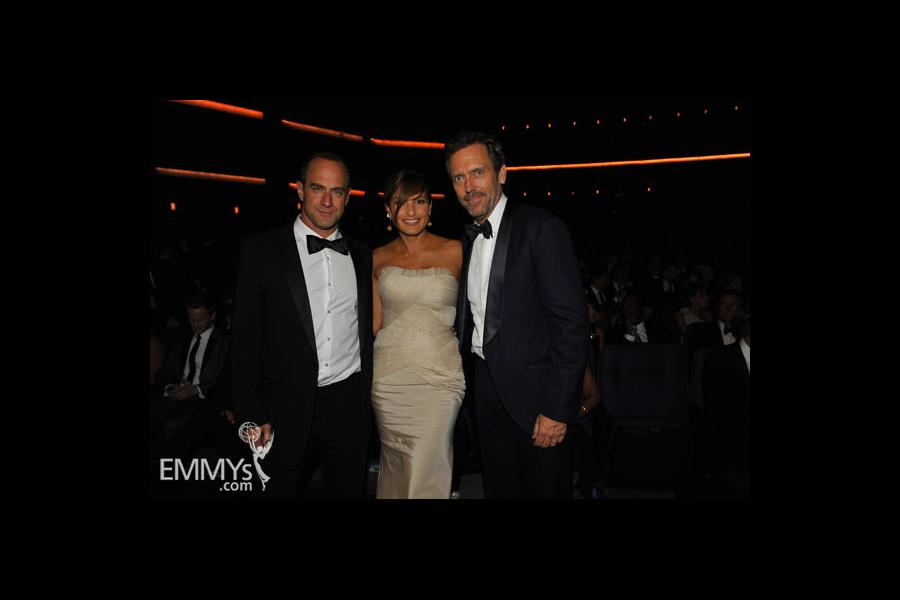 Hugh Laurie, Mariska Hargitay & Christopher Meloni at the 62nd Primetime Emmy Awards