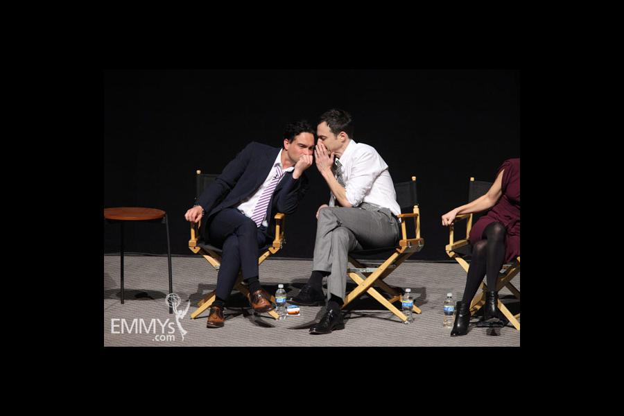 Johnny Galecki and Jim Parsons at An Evening With The Big Bang Theory