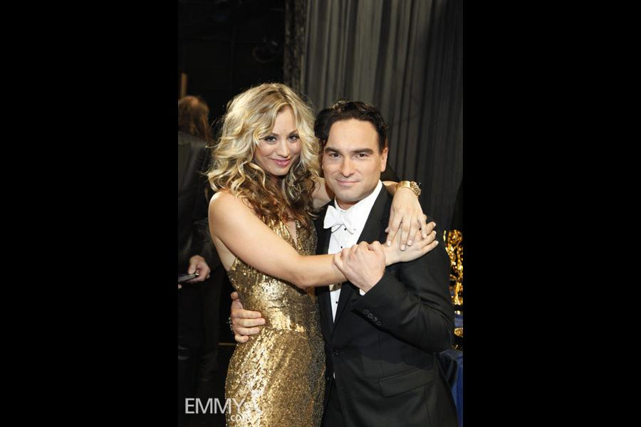 Kaley Cuoco & Johnny Galecki at the 61st Primetime Emmy Awards