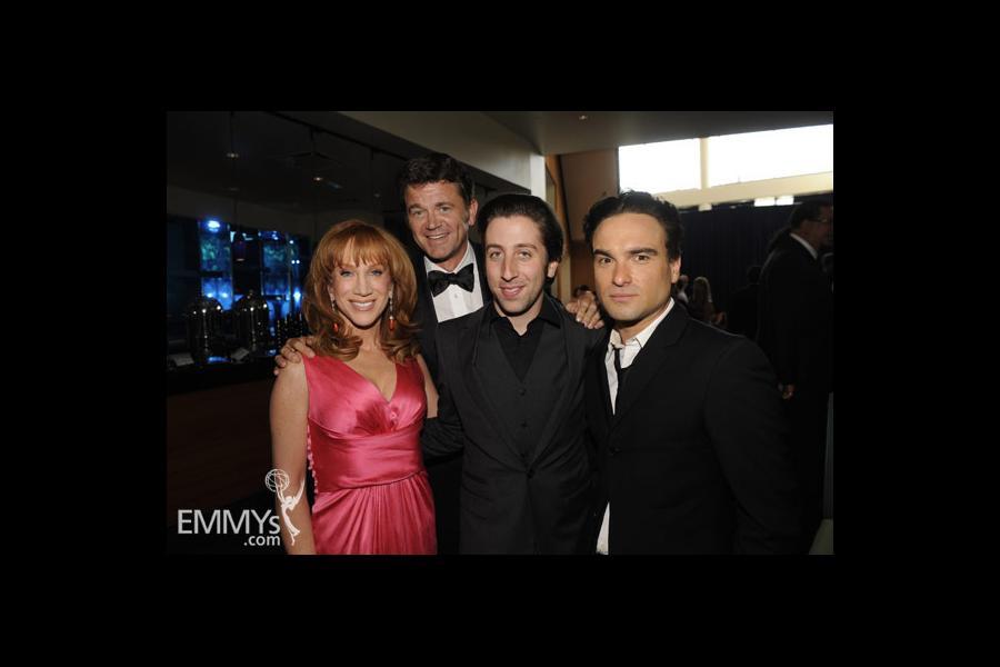 Johnny Galecki, Kathy Griffin, John Michael Higgins & Simon Helberg at the 61st Primetime Creative Arts Emmy Awards