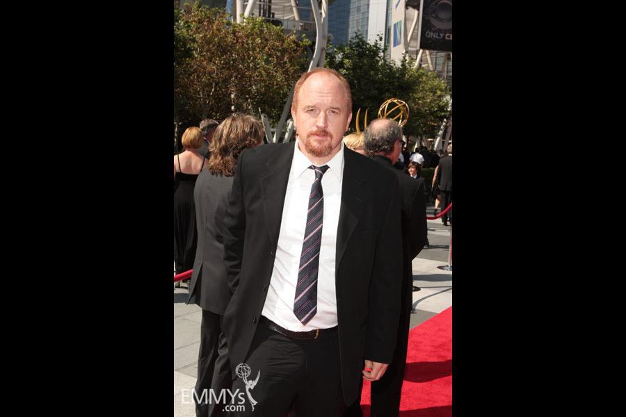 Louis C.K. arrives at the 61st Primetime Creative Arts Emmy Awards