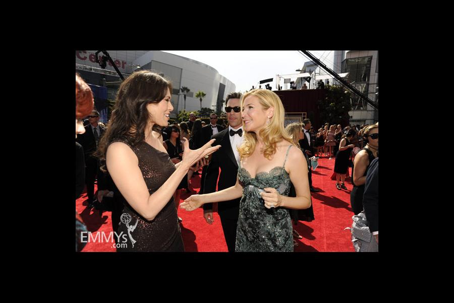 Michelle Forbes & Jennifer Westfeldt at the 62nd Primetime Emmy Awards