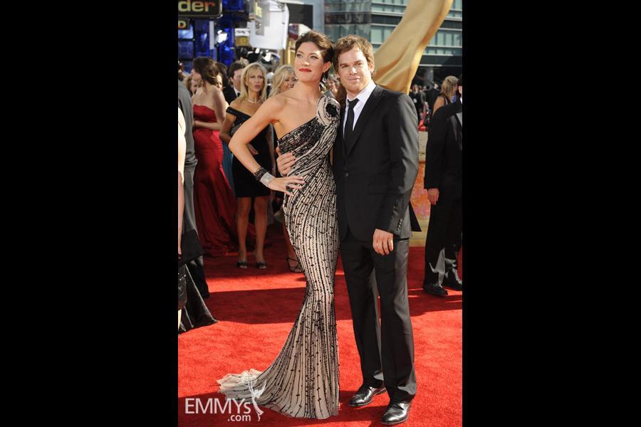 Jennifer Carpenter and Michael C. Hall at the 61st Primetime Emmy Awards
