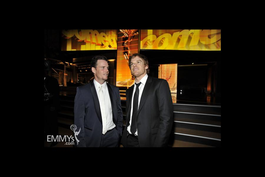 Michael C. Hall and Kevin Dillon at the 61st Primetime Emmy Awards