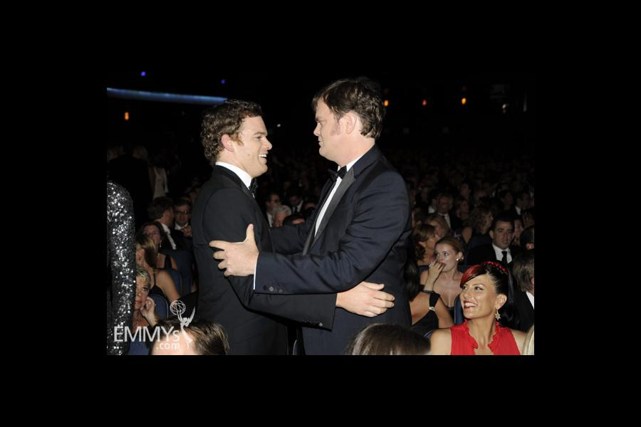 Michael C. Hall and Rainn Wilson at the 62nd Primetime Emmy Awards