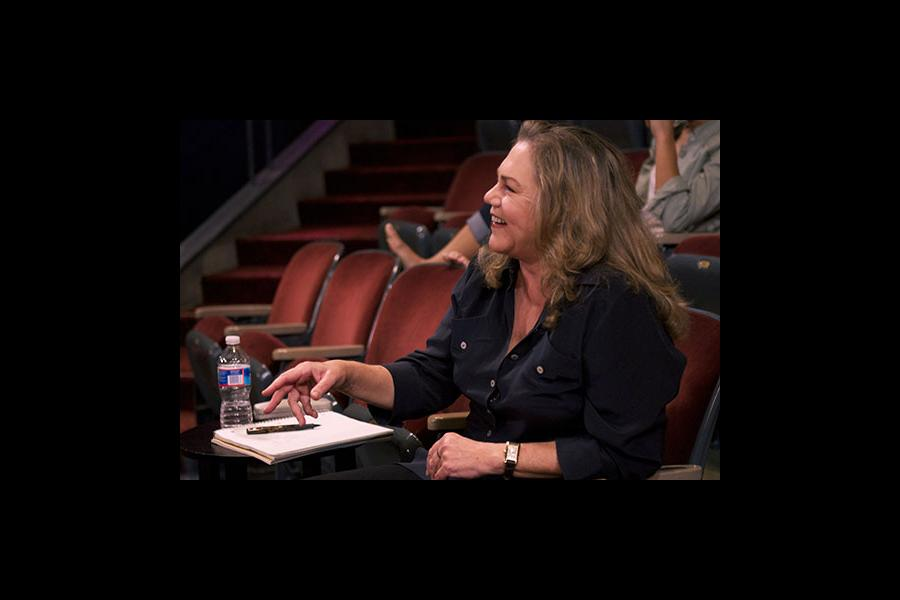 Kathleen Turner, Academy Award and Tony Award nominated actress, works with 2012 Winners in Theater