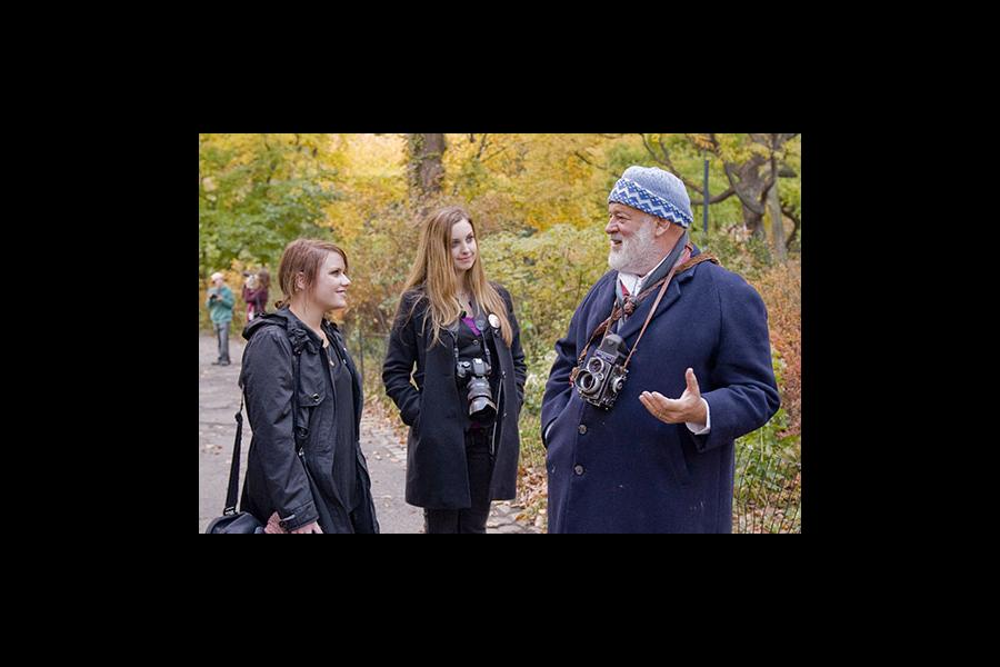 Bruce Weber, noted and influential fashion photographer, works with YoungArts Winners in Photography